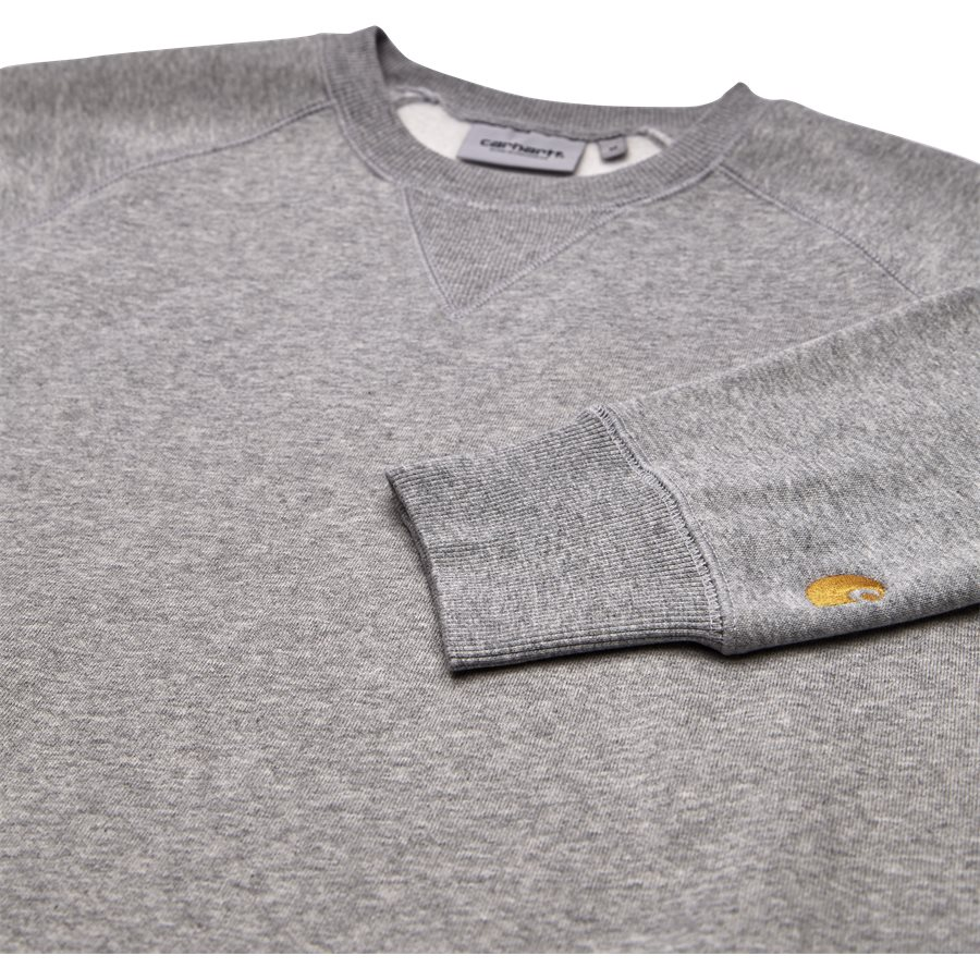 CHASE SWEAT I024652 - Chase Sweat - Sweatshirts - Regular - GREY HTR/GOLD - 3